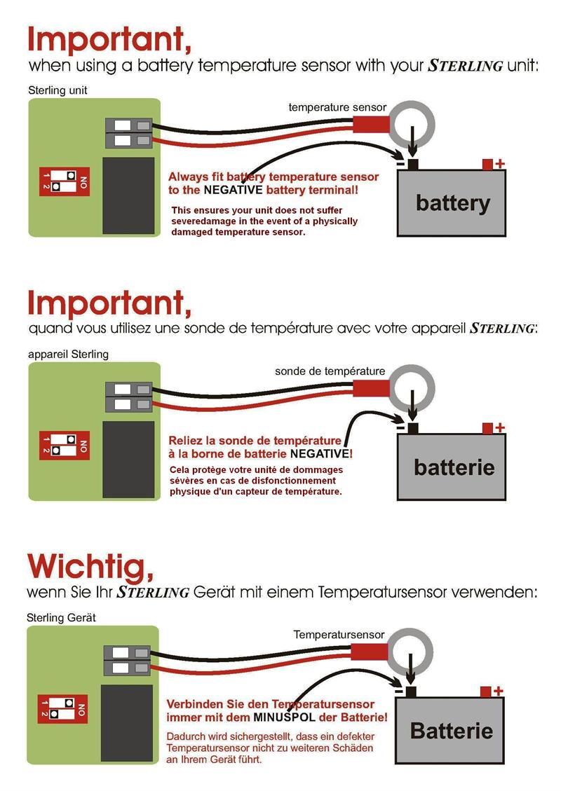 Amp Meter Wiring Diagram For Installation Sterling Power 12 Volt 130 Amp Alternator To Battery Charger