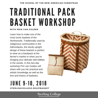 Traditional Pack Basket Workshop