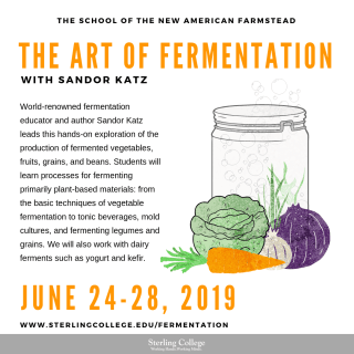 flyer for the fermentation course with Sandor Katz
