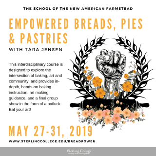 Flyer for Empowered Breads, Pies & Pastries with Tara Jensen, of Smoke Signals Bakery