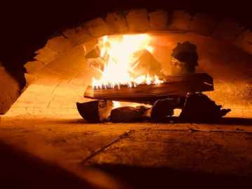 the inside of a wood-fired oven