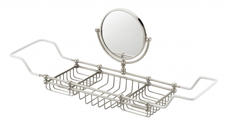 bath rack with mirror
