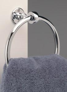 brass handmade towel ring