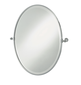 oval tilt mirror with concealed wall mounts