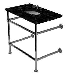 artisan two leg washstand with shelf support
