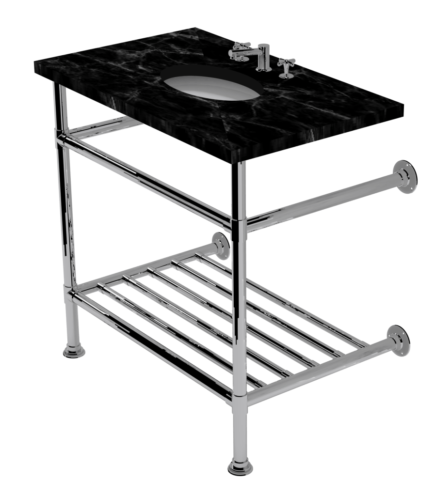 artisan two leg washstand with rack