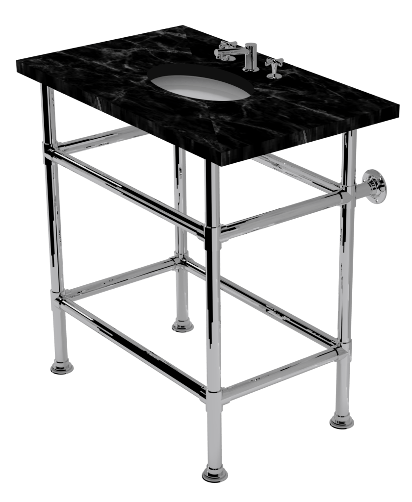 artisan four leg washstand with shelf support