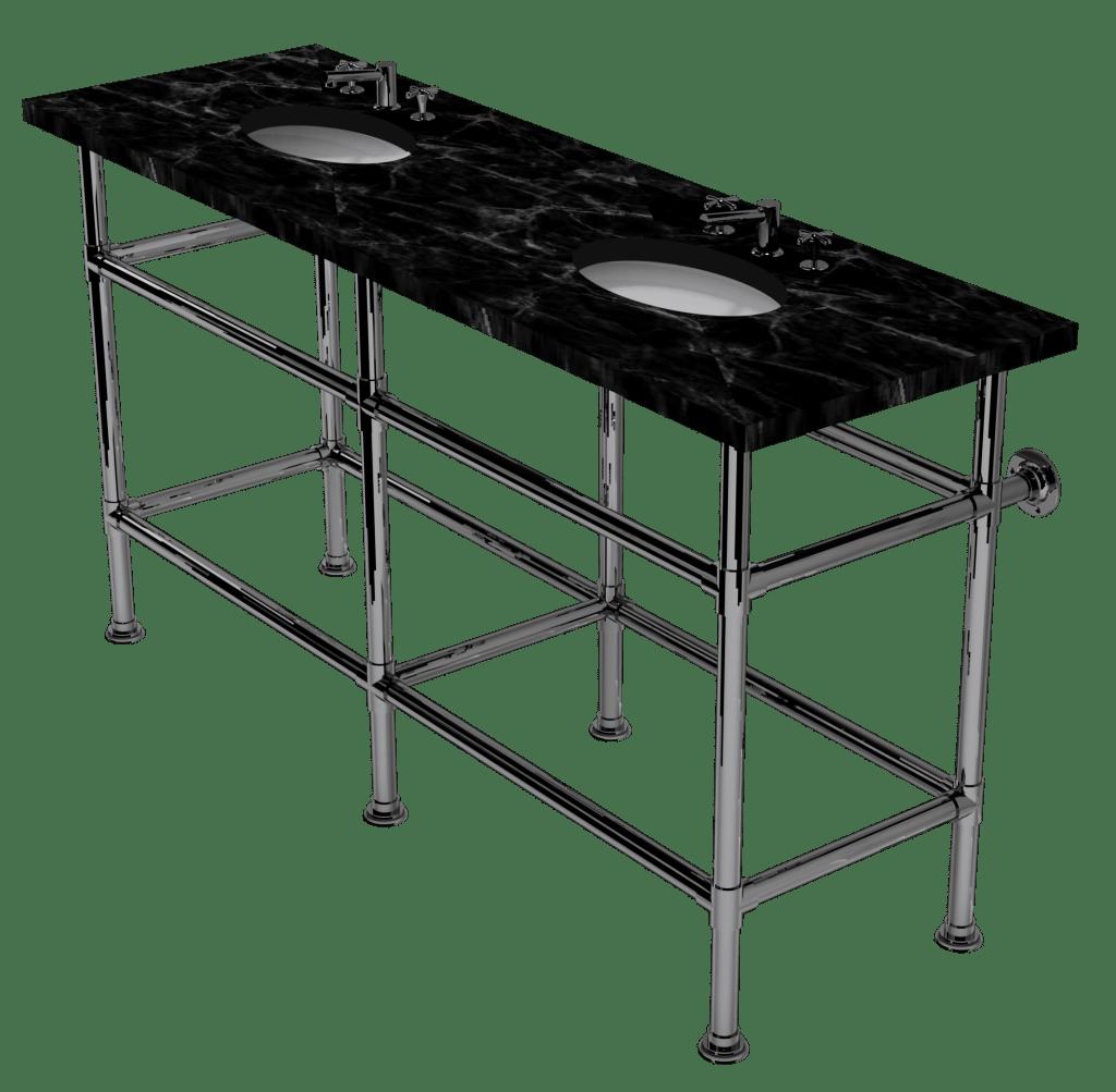 artisan six leg washstand with shelf support