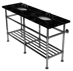 artisan six leg washstand with rack