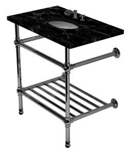 flair two leg washstand with rack