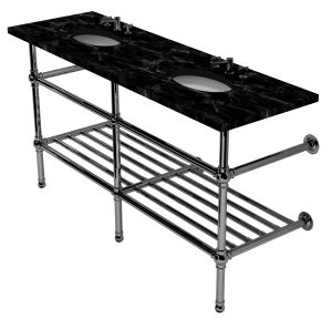 flair three leg washstand with rack
