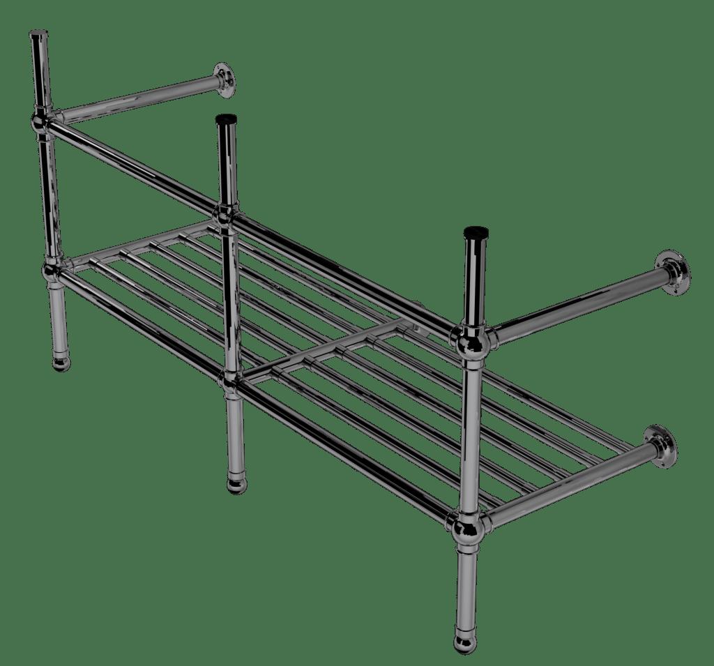 flair three leg basin stand with rack