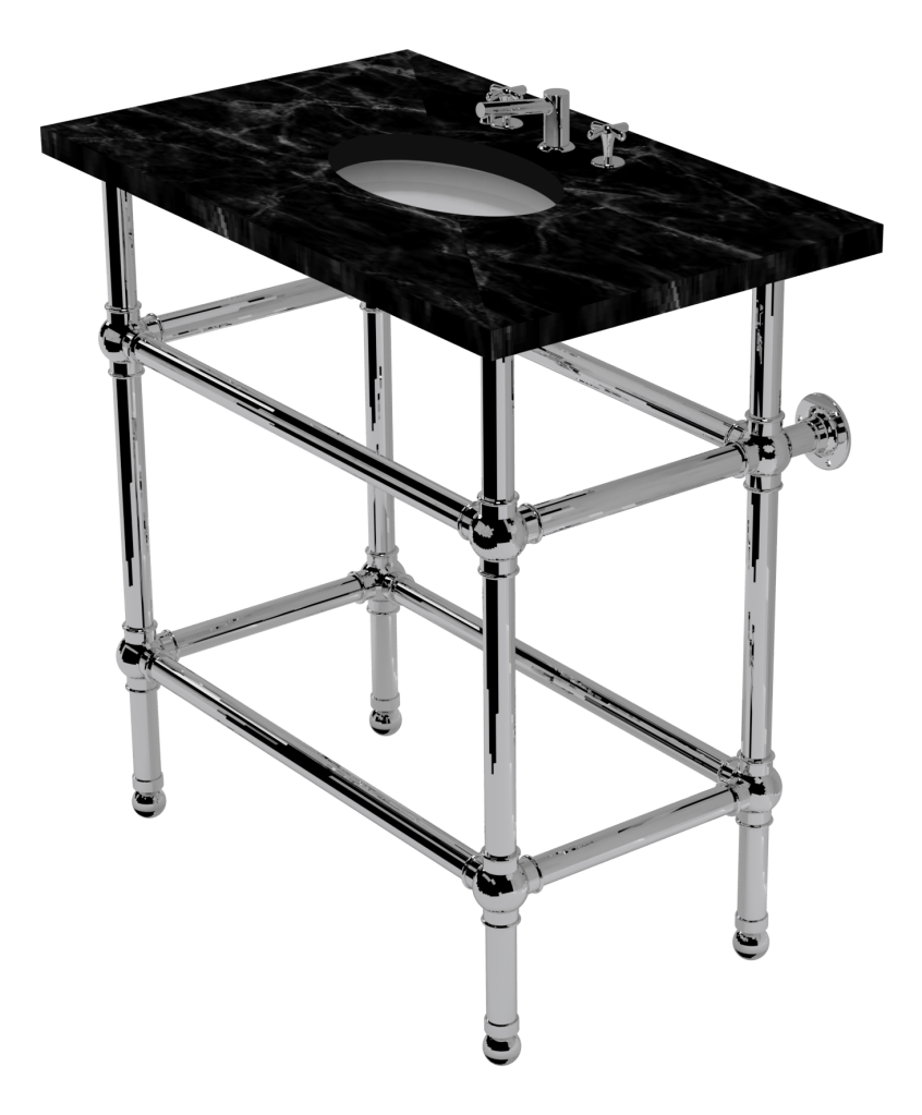 flair four leg washstand with shelf support