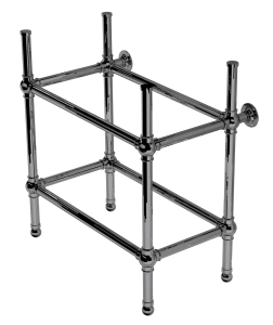 flair four leg basin stand with shelf support
