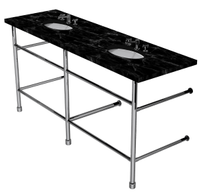contemporary three leg washstand with shelf support