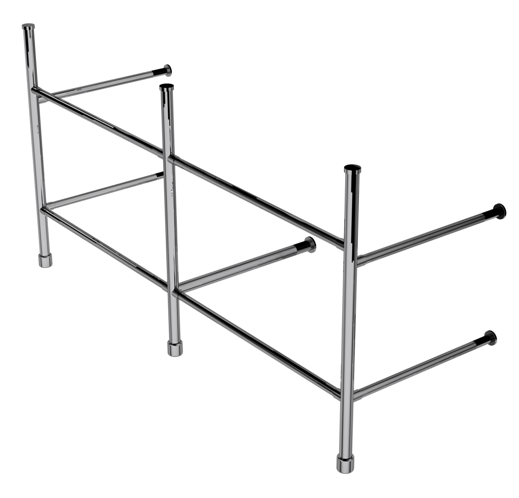 contemporary three leg basin stand with shelf support