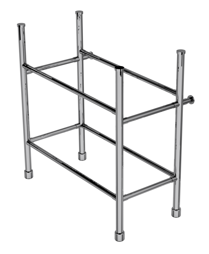 contemporary four leg basin stand with shelf support
