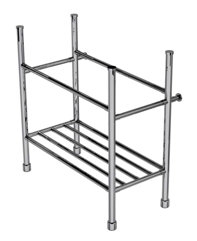 contemporary four leg basin stand with rack