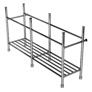 contemporary six leg basin stand with rack