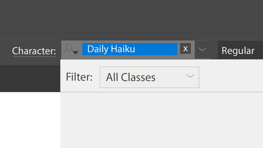 Daily Haiku: Fonts