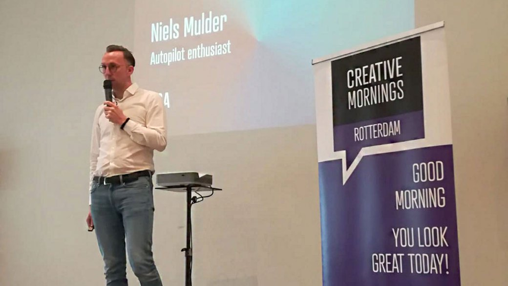 CreativeMornings at Spaces Rotterdam: Investing with Niels Mulder