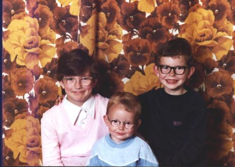 Me aged 9 (left), my brother John aged 2 (middle) and Alan aged 6 (right).