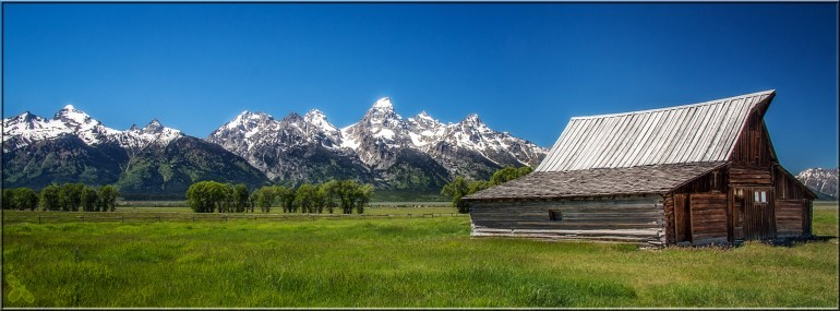 "From ""Mormon Row""--the famous Moulton Barn, and probably one of the most iconic images in the US"