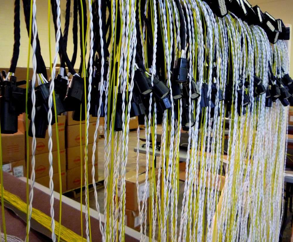 medium resolution of twisted wire harness in production