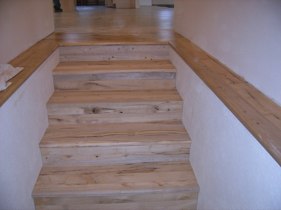 Oregon Wood Stair Treads And Risers Installed | Wood Look Stair Treads