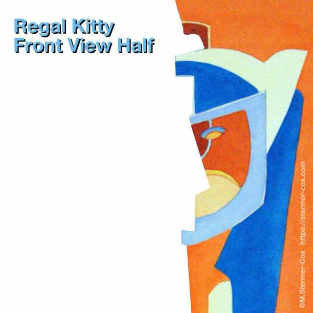 Design view: frontal face, Regal Kitty