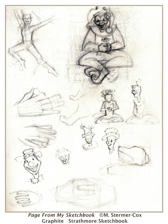 It is about having fun: A page from my sketchbook, hands and yoga poses.