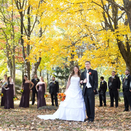 fall wedding, enger tower park, duluth, mn