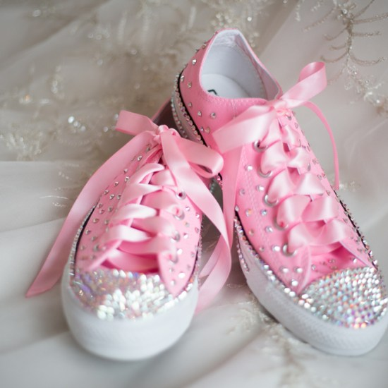 awesome bride shoes, bedazzled, converse, shoe, bride, wedding day footwear