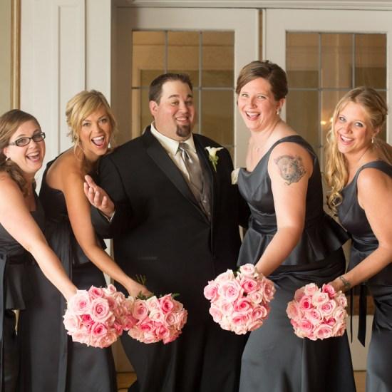 greysolon ballroom, duluth, mn, bridesmaids, groom