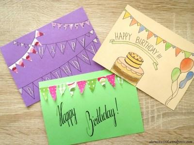 Wimpelketten-Postkarten