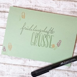 Grusskarte lettering