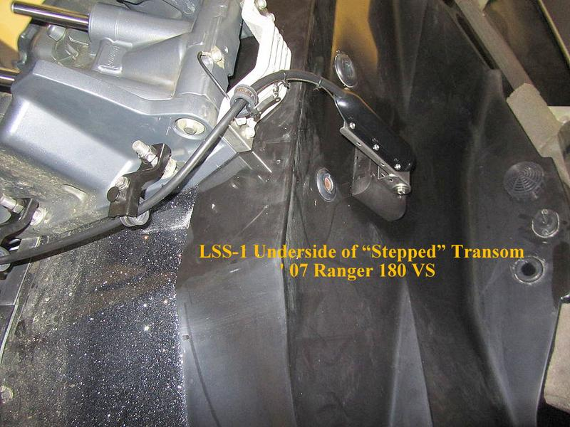 Transomtransducer Photos Mounted on SternMate
