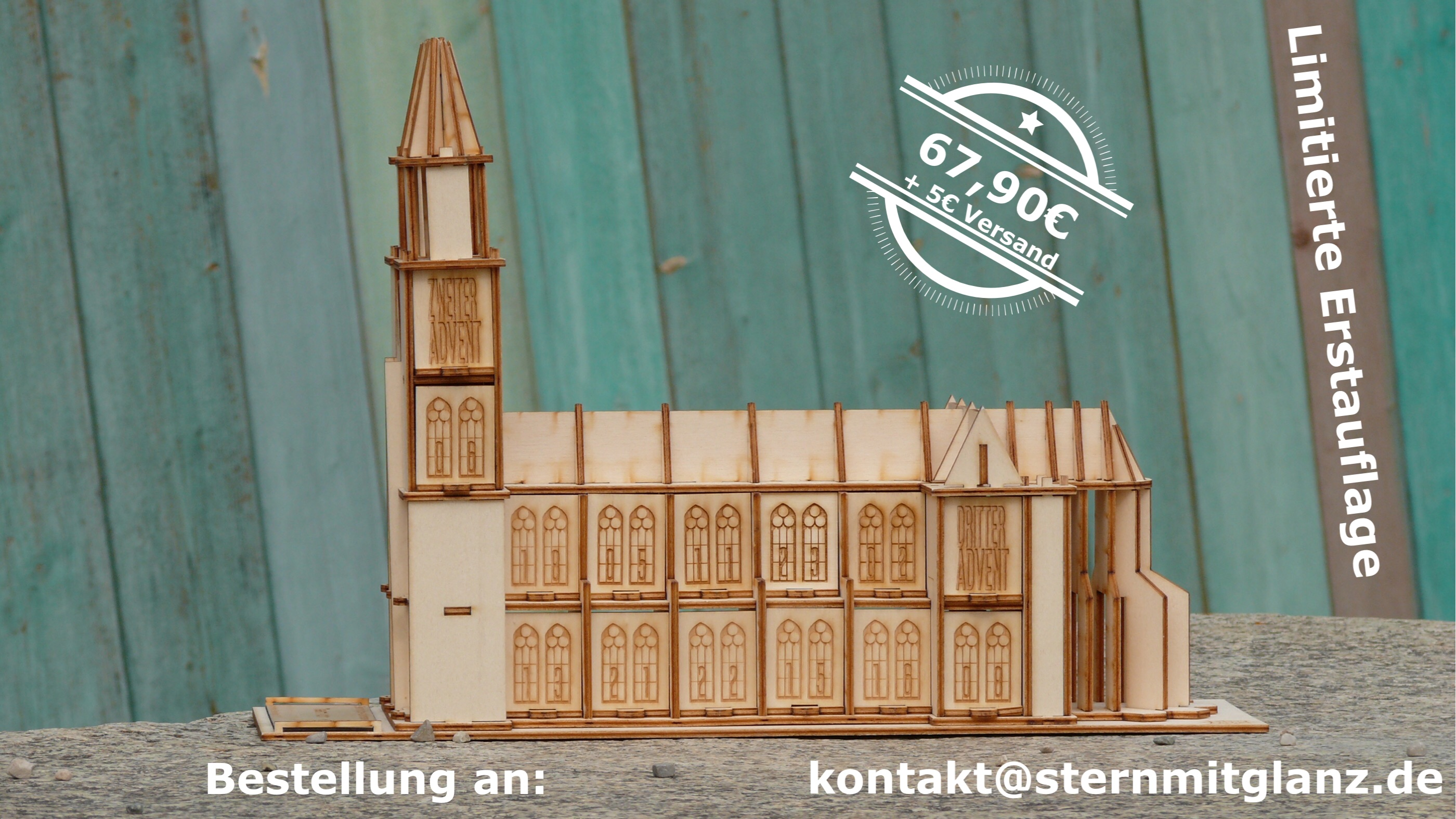 originelle Adventskalender aus Holz
