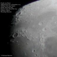 Mondoberfläche mit dem Krater Plato