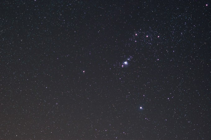 Orionnebel mit 50 mm Brennweite