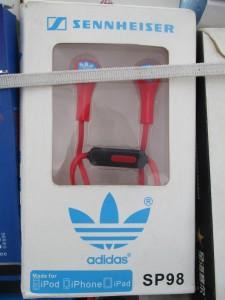 A unique commercial collaboration between Sennheiser and Adidas. I am sure it is legit