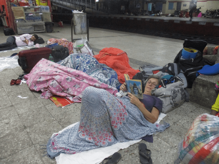 Have we been in India too long when we start sleeping on the train platform?