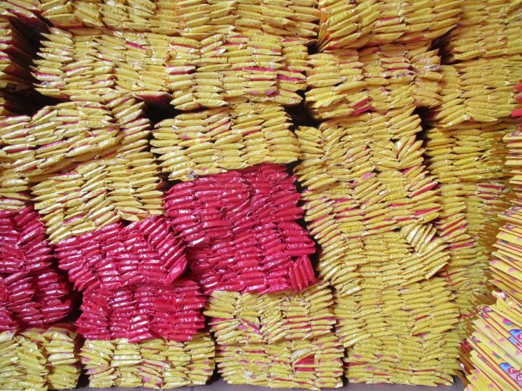 Packets of joss sticks