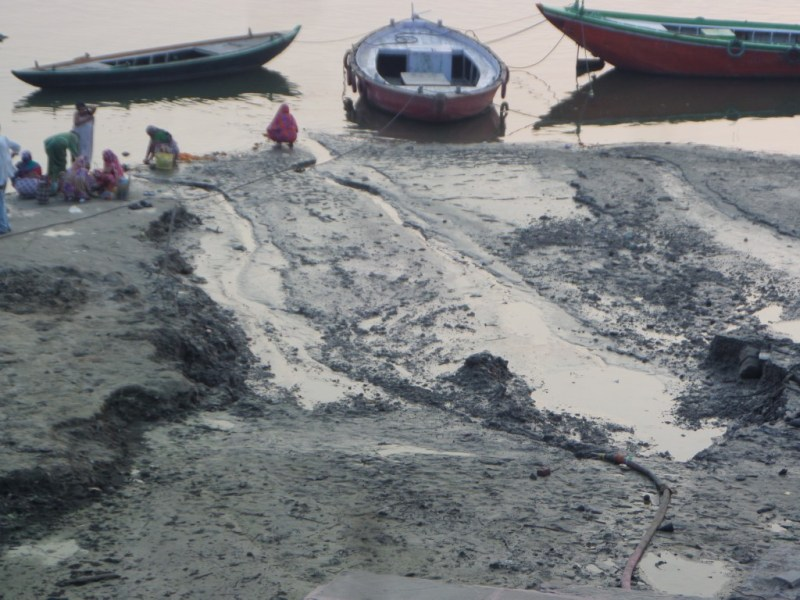 Silt on the banks of The Ganges, Varanasi