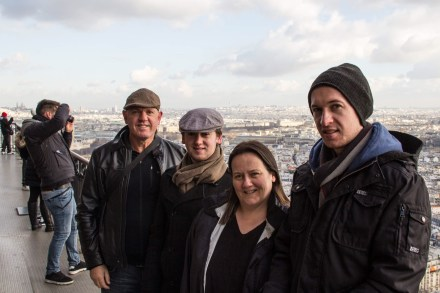 Steve, Geoff, Jane and Andy on level 2 of the Eiffel Tower