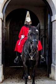 The Royal Lifeguards at Knightsbridge Barracks, London