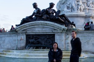 Queen Victoria Memorial with Jane and Andy