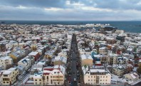 The western side of Reykjavik is the main fishing port of the city. Taken from the icy pinnacle of Hallgrímskirkja