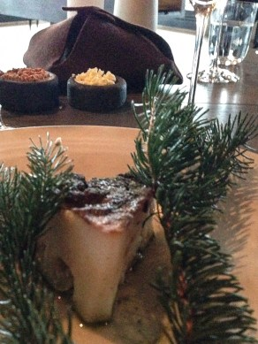Cauliflower and pine cream and horseradish