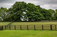 Hadrian's Wall beyond the fences
